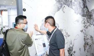 欧文莱企业天沃精品岩板火热亮相厦门石材展